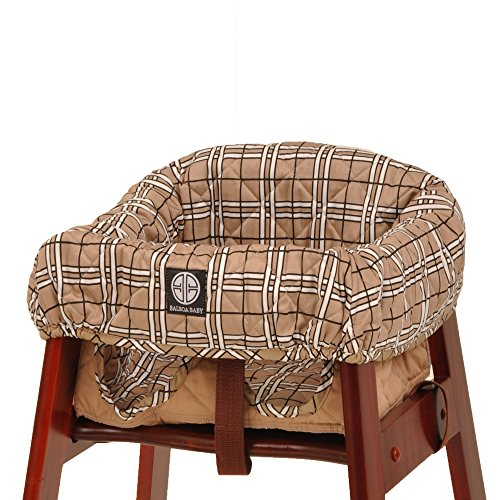 Balboa Baby High Chair Cover, Tan Plaid