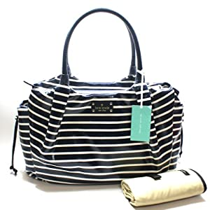 Kate Spade Stevie Baby Bag Southport Avenue Mariner Shoulder Bag/ Diaper Bag (Navy) #WKRU2285 from Kate Spade
