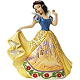 Jim Shore for Enesco Disney Traditions Snow White with Castle Dress Figurine, 6""