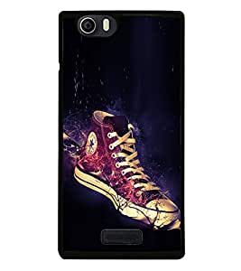Glowing Shoe 2D Hard Polycarbonate Designer Back Case Cover for Micromax Canvas Nitro 2 E311