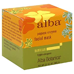 Alba Botanicals Papaya Enzyme Facial Mask 3oz.