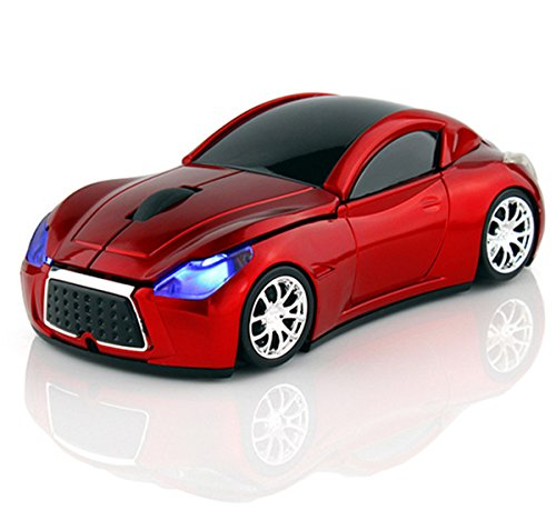 Wireless Sport Car Mouse Optical Mouse Mice Ergonomic Design For Computer Laptop Red Color