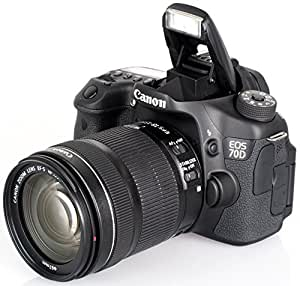 Canon EOS 70D 20.2 MP Digital SLR Camera with Dual Pixel CMOS AF and EF-S 18-135mm F3.5-5.6 IS STM Kit Bundle with Canon EF-S 55-250mm f/4.0-5.6 IS II Telephoto Zoom Lens, 64GB High Speed Card, Spare Battery (Qty 2), Rapid Charger, Filters + MORE!