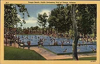 Tempe Beach Public Swimming Pool Tempe Arizona Original Vintage Postcard At Amazon 39 S