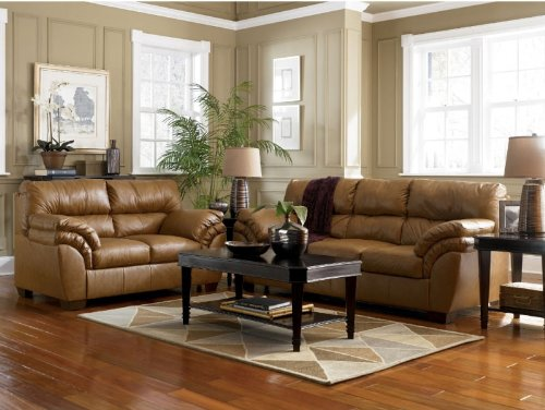 Buy Low Price AtHomeMart Nutmeg Sofa, Loveseat, and Recliner Set (ASLY4130238_4130235_4130225_3PC)