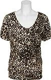 SPOILED Cheetah Print Batwing Glitter Top w Lace 53D4202-D46X