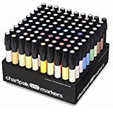 The Original Chartpak AD Markers, Tri-Nib, 100 Assorted Colors in Slot Caddy, 1 Each (AD100) (Color: Assorted, Tamaño: 100 Assorted Colors)