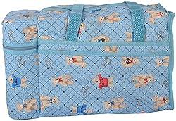 WonderKart Multi Purpose Baby Diaper Mother Bag With 2 Bottle Holders - Keep Baby Bottles Warm (Sky Blue)