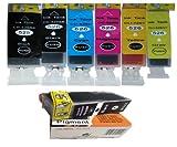 6 + 1 PGI-525pgbk .*.*.*PIGMENT + GREY*.*.*. Compatible ink cartridges for Canon PIXMA iX6550. PGI-525 PGBK/BK, CLI-526 C/GY/M/Y/BK. *. *. *