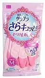 Amazon.co.jpサラサラさらキュッと ビニール手袋 中厚手 M 1双入 YS-2M