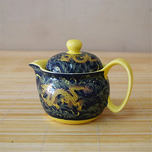 Kangkang@ Golden Dragon Porcelain Teapot, China Tea Kettle Gift for Friendlanjinlong Ceramic Teapot Tea Sea with Stainless Steel Filter Jingdezhen Colour (Porcelain Teapot Electric compare prices)