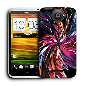 Snoogg Abstract Multicolor Thrones Designer Protective Back Case Cover For HTC ONE X