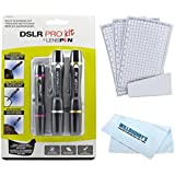 LensPen New DSLR Pro Camera Cleaning Kit, NDSLRK-1 + Screen Protection 3 Pack + Microfiber Cleaning Cloth