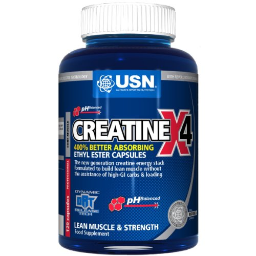 USN Creatine X4 Lean Muscle and Strength Capsules - Tub of 30