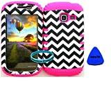 Straight Talk/Net 10 Samsung Galaxy DISCOVER CENTURA R740 S730G S738C Chevron on Pink Gel Cover Case(Wireless... by Rocker