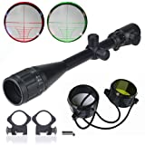 BESTEK 6-24x50 AOEG rifle scope with duty mounting and lens cover BTRS003