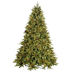#!Cheap GKI Bethlehem Lighting Medium Green River Spruce Instant Power Pole Technology 7.5ft with 650 Clear Lights