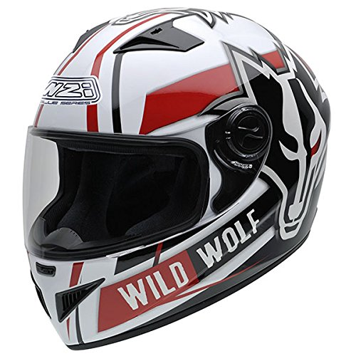 nzi-must-ii-multi-wild-helmet-white-black-and-red-with-wolf-face-drawn-large