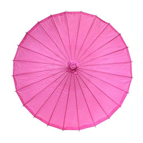 Koyal Color Paper Parasol, 32-Inch, Fuchsia front-998406