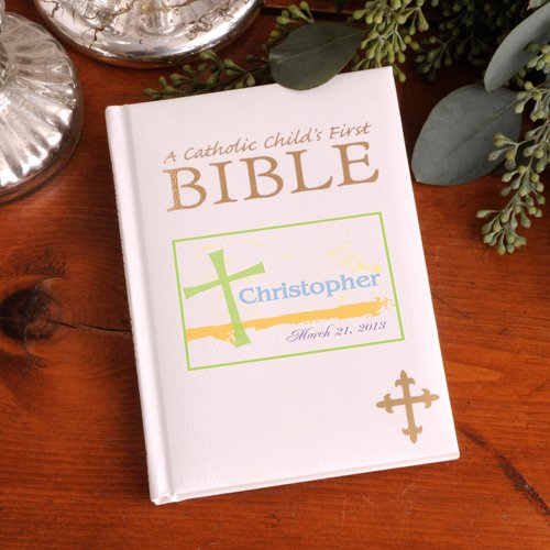 Personalized Pastel Grace Catholic Child's First Bible