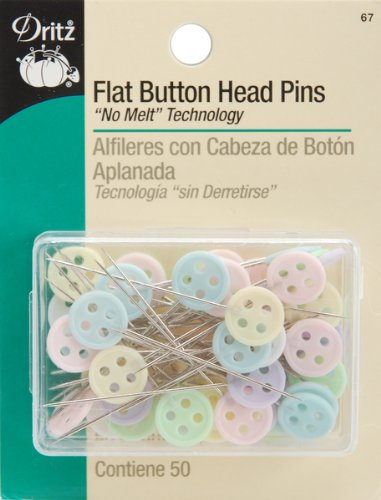 Flat Button Head Pins-50/Pkg [Health and Beauty]