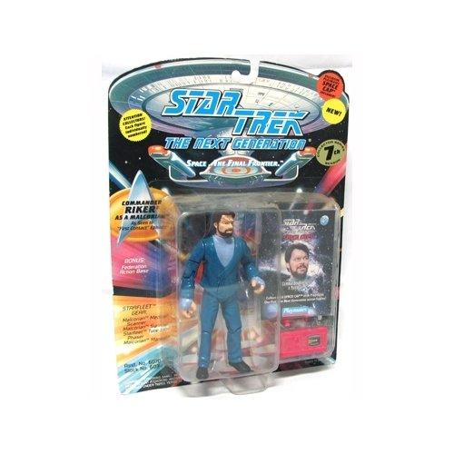 Star Trek The Next Generation Commander Riker as a Malcorian 4 inch Action Figure