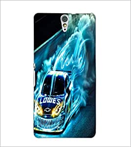 PrintDhaba Digital Car D-2227 Back Case Cover for SONY XPERIA C5 ULTRA (Multi-Coloured)