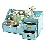 niceeshop(TM) Large Multi Compartments DIY Wood Desk Paper File Storage Organizer, Light Blue