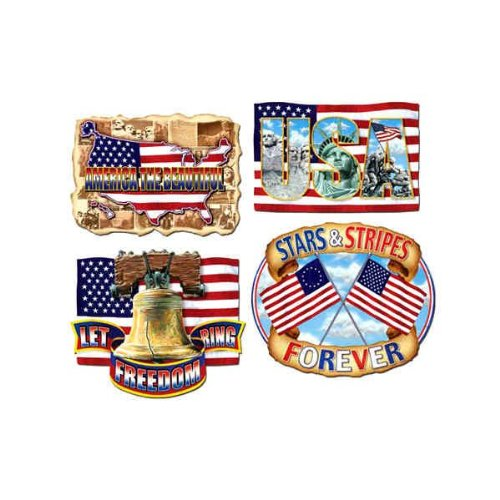 American Pride Cutouts Party Accessory (1 count) - 1