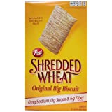 Post Shredded Wheat Original Cereal, No Sugar Or Salt Added, 15-Ounce Boxes (Pack Of 4)