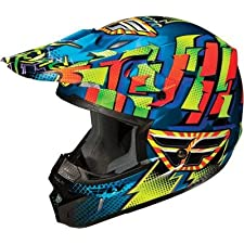 Fly Racing Kinetic Motocross Helmet Dash Blue/Yellow/Orange Large L