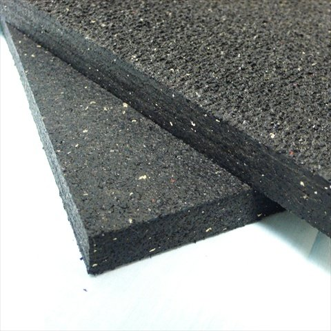 Rubber Cal Shark Tooth Heavy Duty Mat, Black, 3/4-Inch x 2 x 3-Feet