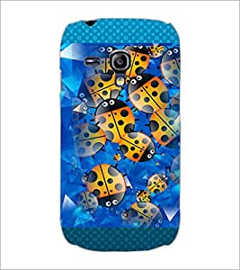 PrintDhaba Ladybug pattern D-4602 Back Case Cover for SAMSUNG GALAXY S3 MINI (Multi-Coloured)