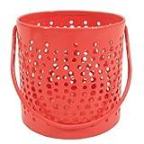 GolMaalShop Red Bucket Votive(Red, 3.2 InchX4 Inch)