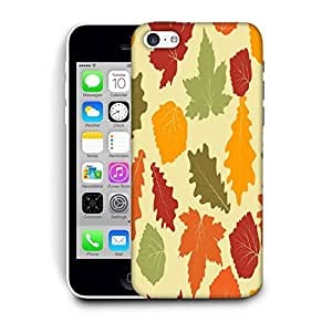 Snoogg Colorful Leaves Printed Protective Phone Back Case Cover For Apple Iphone 5C