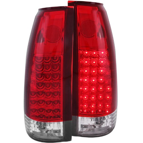 Anzo Usa 311004 Chevrolet Red/Clear Led Tail Light Assembly - (Sold In Pairs)