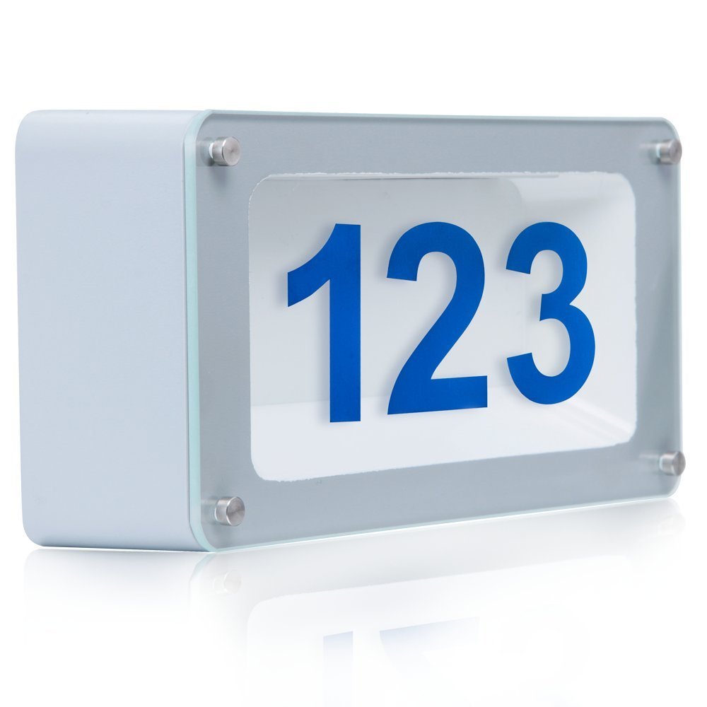 Bright Durable LED Address Numbers Address Signs-Custom Lighted Address Plaques : eBay
