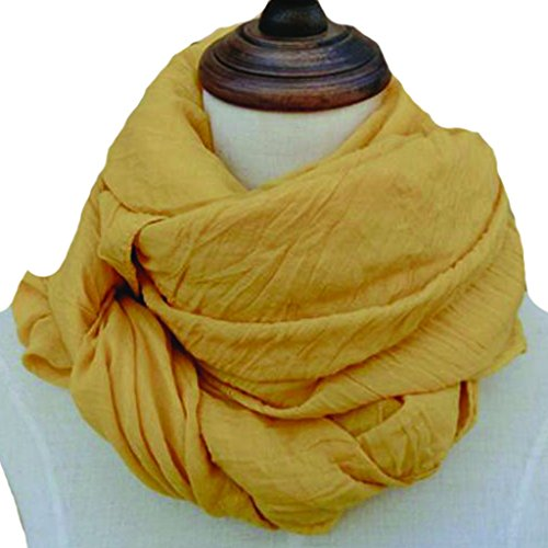 Happy Womens Fashion Solid Color Cotton Linen Scarf Big Long Shawl Wrap
