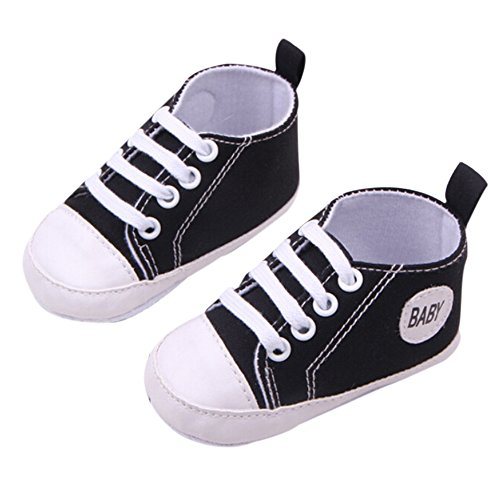 Hot Selling High Quality Multi-Color Newbron Softy Stylish Infant Baby Boy Girl Soleb Sneaker Toddler Shoes -Black 11cm