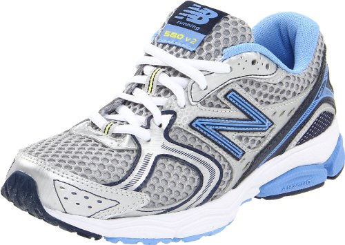 New Balance Women's W580SB2 Silver/Blue Trainer