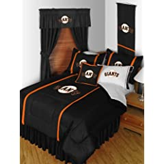 SAN FRANCISCO GIANTS 6 PIECE TWIN COMFORTER SET BED IN A BAG (COMFORTER, FLAT SHEET,... by SAN FRANCISCO GIANTS