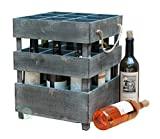 Quickway Imports Antique Style Stackable Wooden Wine Crates