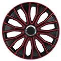 """14 Zoll 15 Zoll 16 Zoll Radzierblenden / Radkappen Voltec pro Black red 14"""" 15"""" 16"""" SCHWARZ ROT von CD - Reifen Onlineshop"""