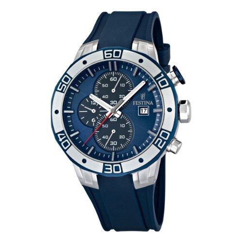 FESTINA F16667/5 - Reloj cronógrafo de cuarzo para hombre con correa de plástico, color azul