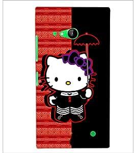 PrintDhaba Hello Kitty D-6071 Back Case Cover for NOKIA LUMIA 730 (Multi-Coloured)