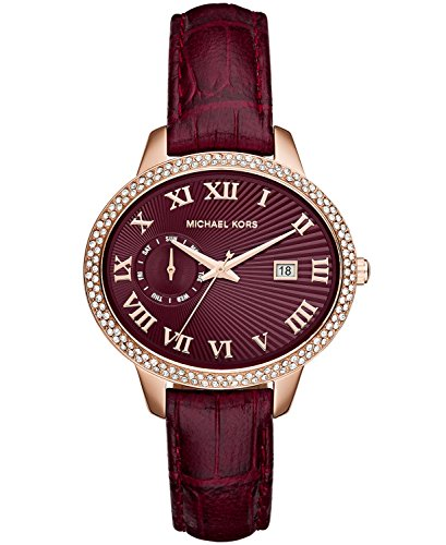 Michael Kors Ladies MK2430 Whitley Embossed Croco Leather Watch