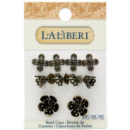 EK Success - Laliberi - Jewelry - Bead Caps - Brass Assortment