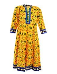 2dots Women's Cotton Regular Fit Kurti - B00VK5TT24