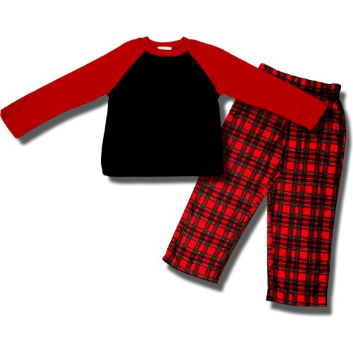 Holiday 2 Piece Crew-Style Pajamas For Boys - Large (10/12) front-1035803