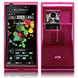 EMARTBUY SONY ERICSSON SATIO LCD SCREEN PROTECTOR AND CONTOUR PATTERN GEL SKIN COVER/CASE HOT PINK